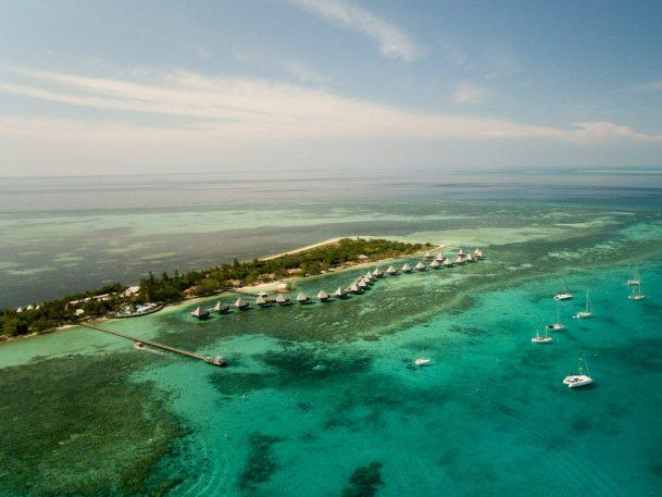 overwater bungalows Escapade Ilot Maitre