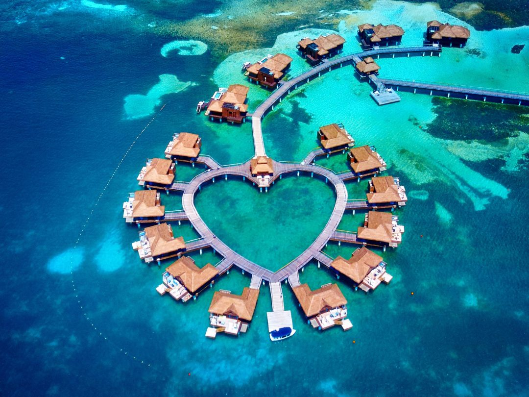 best overwater bungalows Caribbean