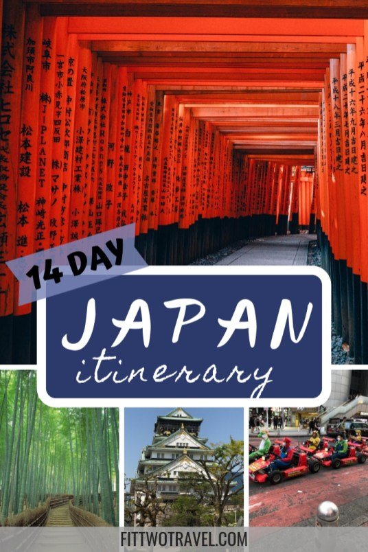 A complete 2 weeks in Japan Itinerary for first time visitors, including Tokyo, Kyoto, Kanazawa, Takayama and Mt Fuji, plus how to travel Japan on a budget Fittwotravel.com