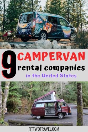 9 USA Campervan rental companies | Where to rent a campervan in the US | RV and Campervan rentals fittwotravel.com