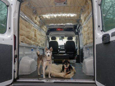van conversion wool insulation