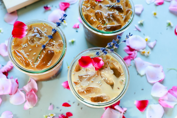 Lavender, Iced Coffee, Lavender Iced Coffee, Coffee, summer