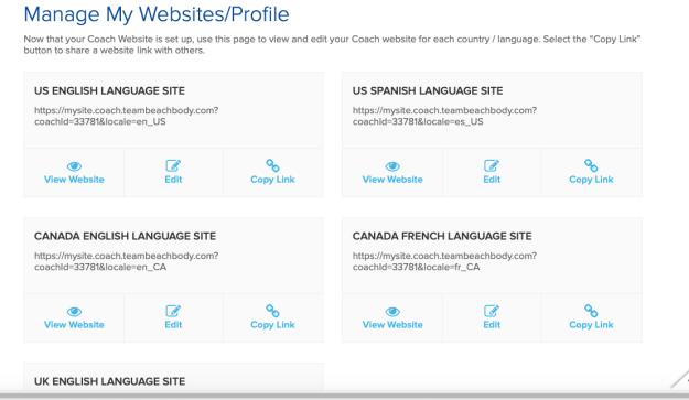 Choose language for My Websites setup