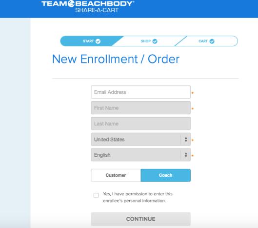 Share a Cart Customer info