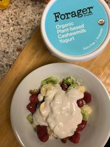 Ultimate reset breakfast, Vegan yogurt and fruit