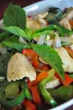 Salade met kip en taugé
