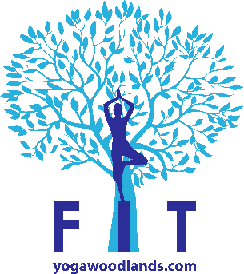 FIT yogawoodlandslogonoback blue