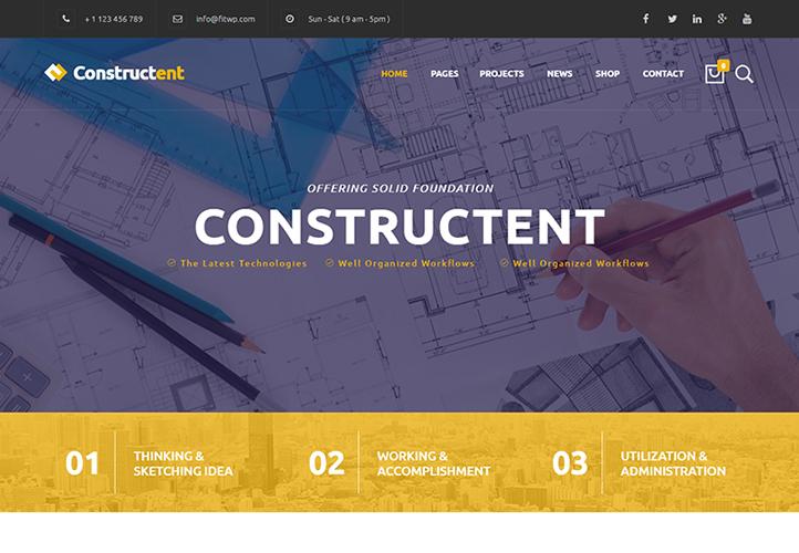 Constructent WordPress Theme Desktop