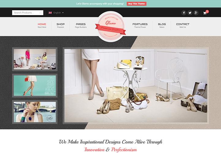 Glamo WordPress Theme Desktop