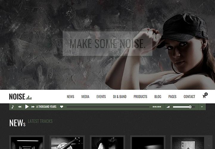 NOISE WordPress Theme Desktop
