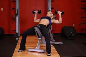 Incline dumbbell chest press