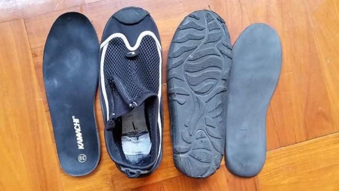 赤足、五指、簡便平底鞋03