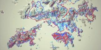 Strava Heatmap Hong Kong 香淹