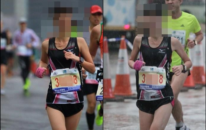 傳聞用假印章排頭位的女跑手