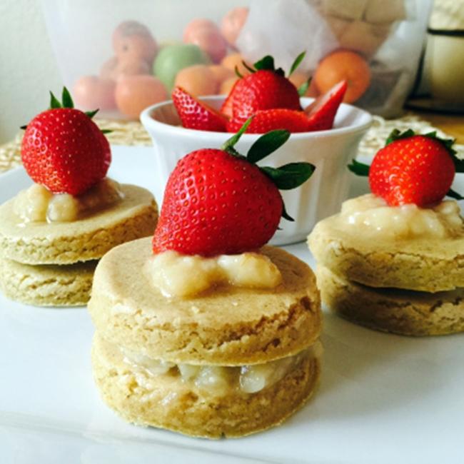 健康甜點香蕉草莓小蛋糕 5