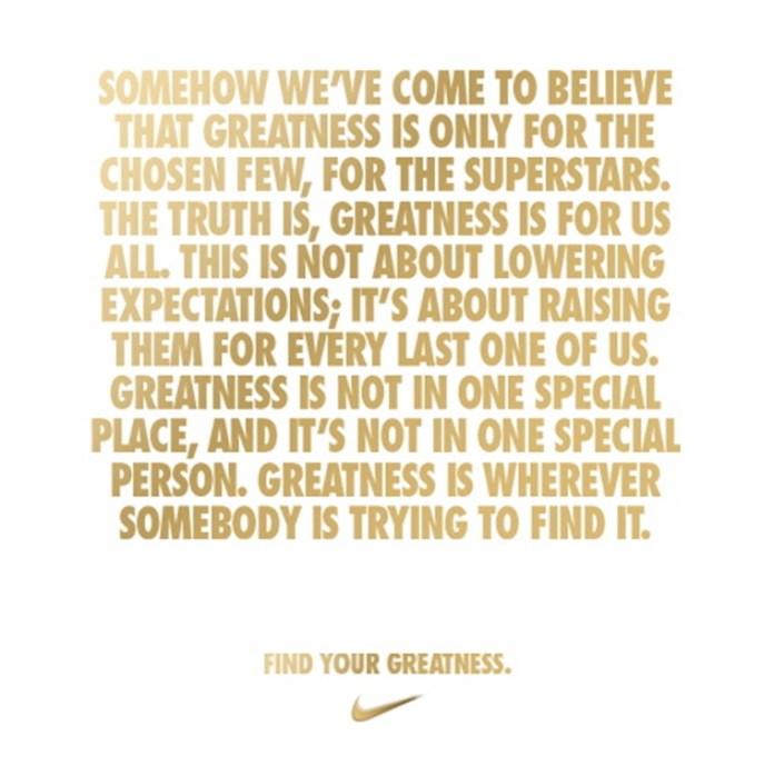 我最喜愛的二十個Nike 跑步廣告