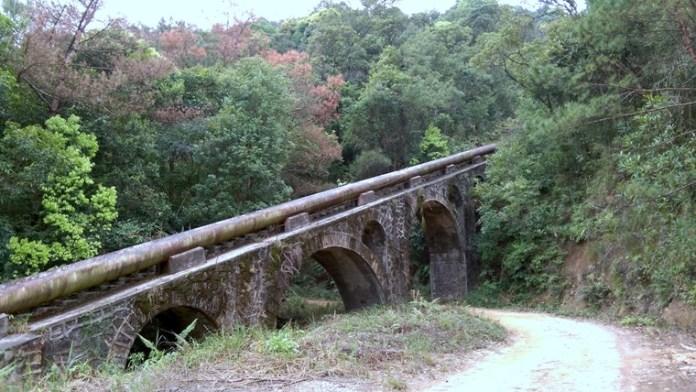 大水管的拱跨極具特色