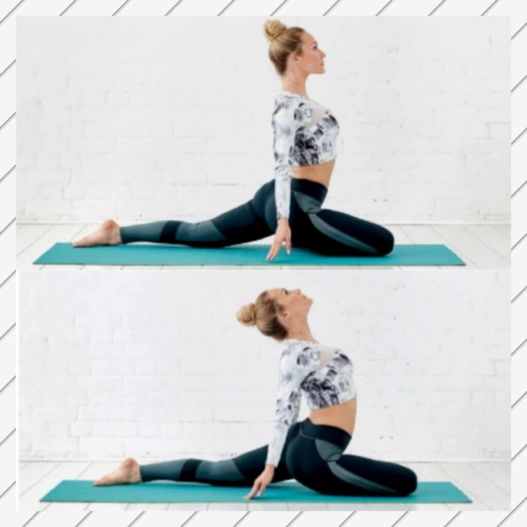 Arching Pigeon Pose to fix bloating Stomach - FITZABOUT