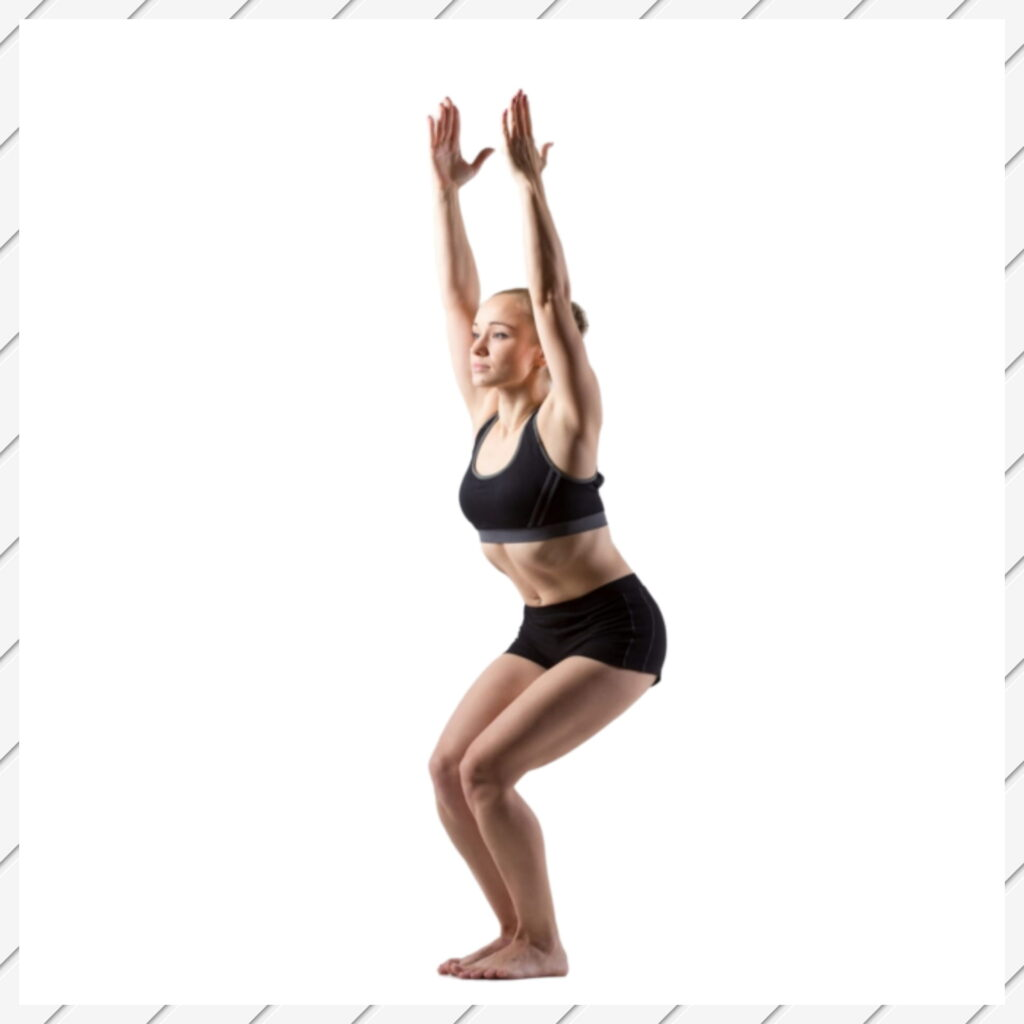 Chair Pose for Lower belly Fat Yoga - FITZABOUT
