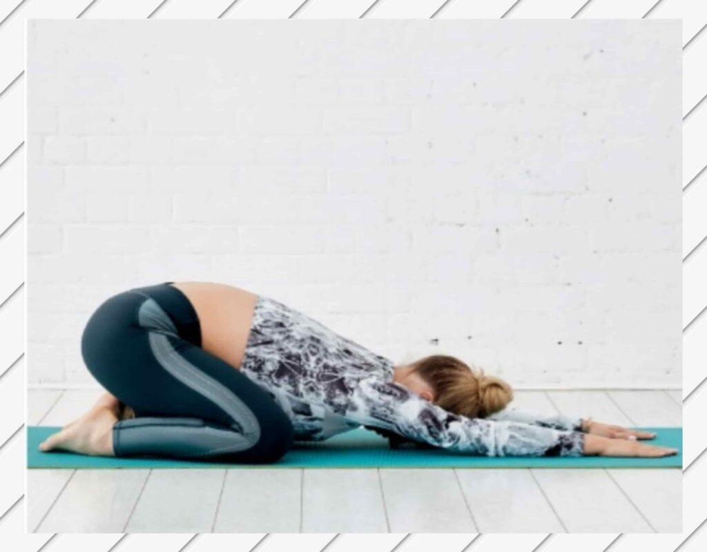 Child's Pose for bloating stomach yoga poses - FITZABOUT