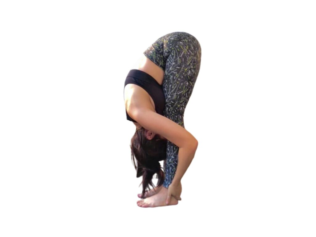Hand Under the Foot Pose (Padahastasana) for Lower belly Fat Yoga - FITZABOUT