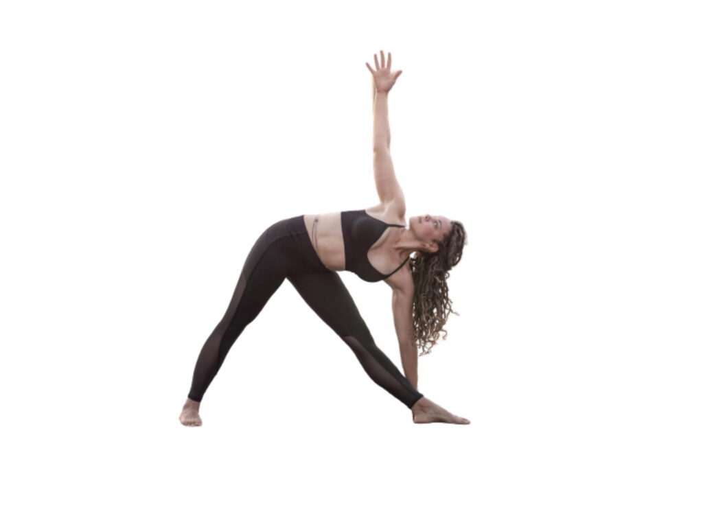 How to Triangle pose - FITZABOUT