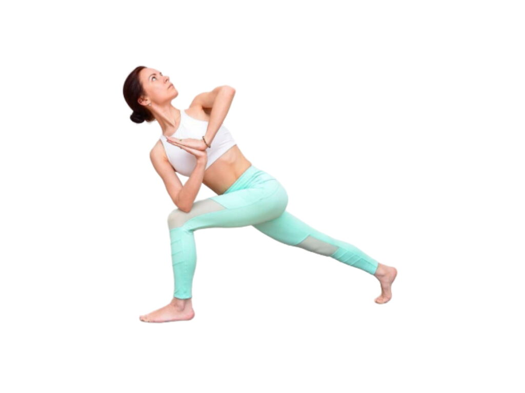Warrior-Twist Pose (Twisted warrior or Twisted lunge pose) - FITZABOUT