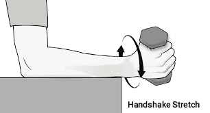 Handshake Stretch  for elbow pain - FITZABOUT