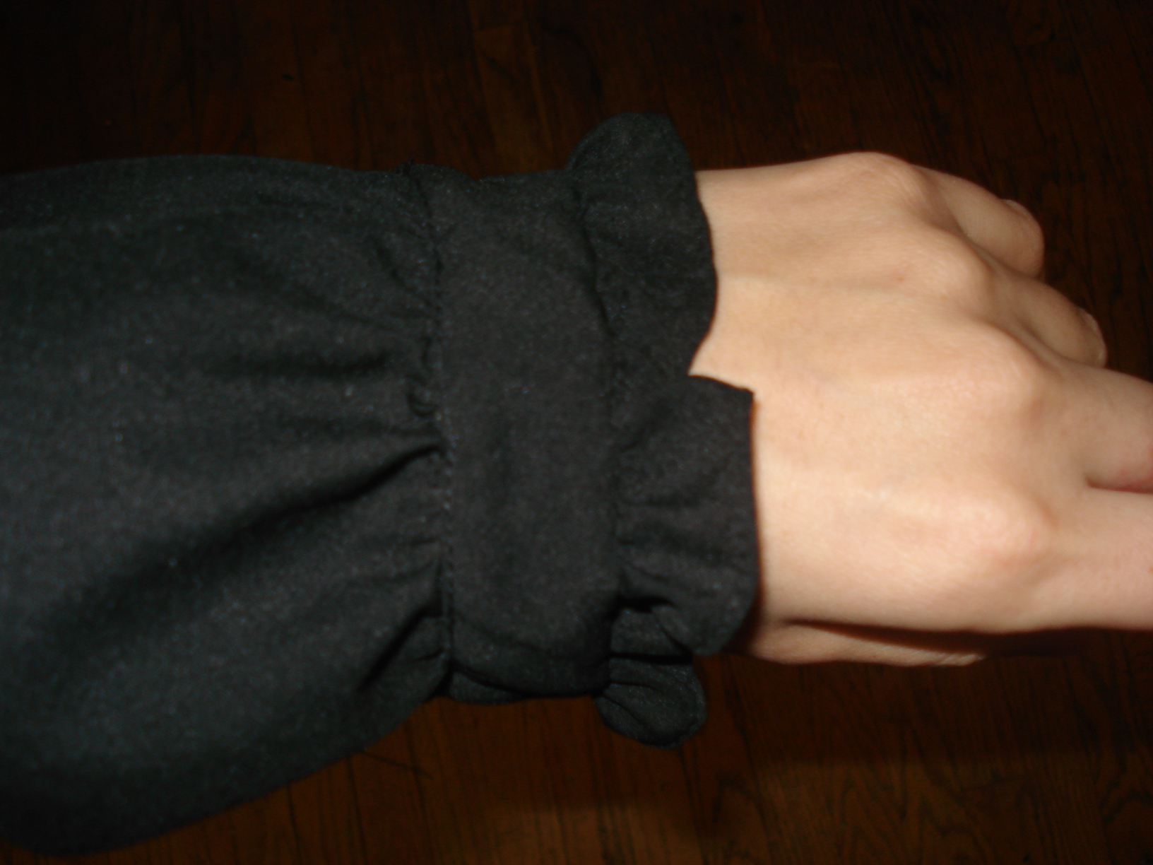 black blouse cuffs