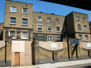 The former Strand Union Workhouse building in Cleveland Street, Fitzrovia.