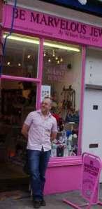 William outside in Goodge Street, Fitzrovia