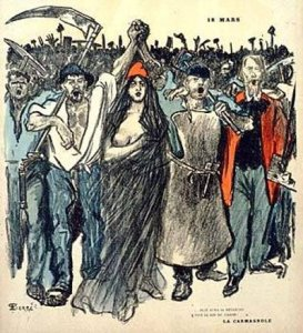 "Cover illustration by Théophile-Alexandre Steinlen, from ""Le Chambard Socialiste,"" March 17, 1894."