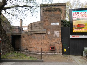 A disused entrance to a deep shelter.