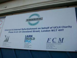 Notice about refurbishment.