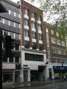 Bulding on Tottenham Court Road.