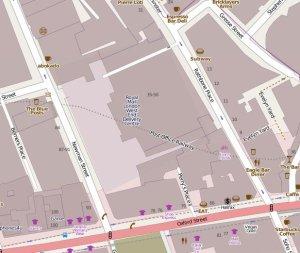 Map of Rathbone Place Development.