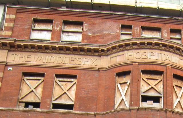 Facade of hospital.