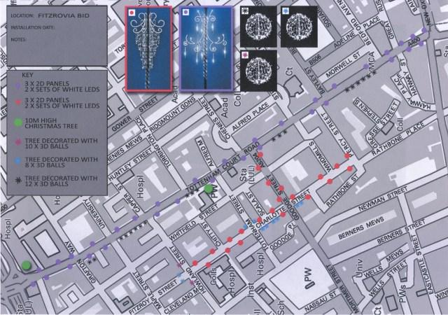 Map of Xmas lights.