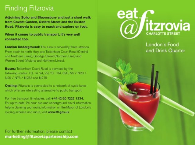 Leaflet with drink.