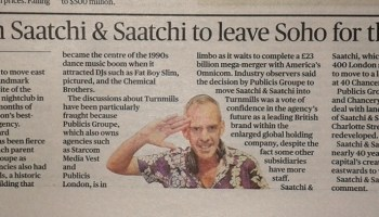 Press cutting from Evening Standard with picture of Norman Cook.
