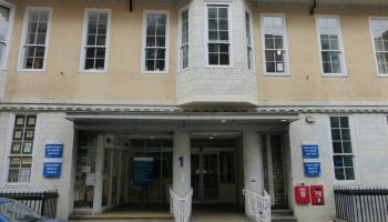 Front of medical centre.