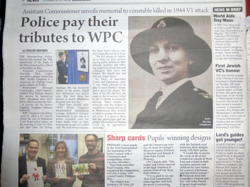 Newspaper cutting.