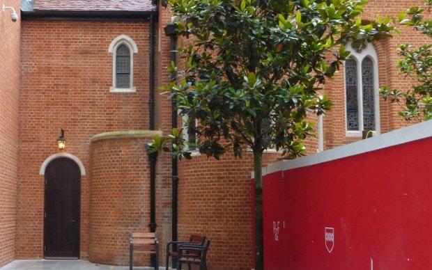 Outside of chapel.
