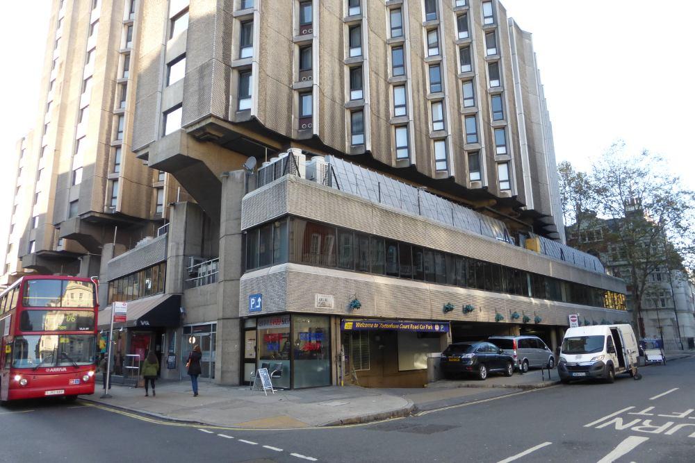 Hotel on corner of street.