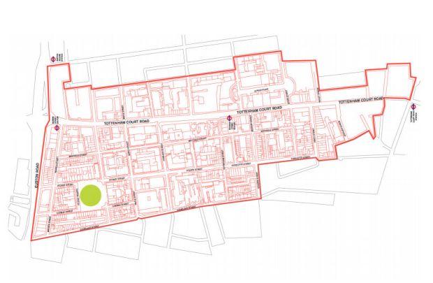 Fitzrovia BID map 2017-2022.