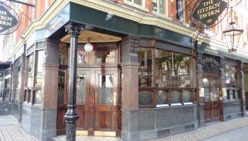 Front of pub.