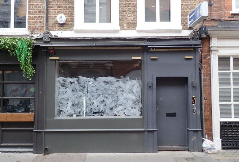 Shopfront at 20 Hanway Street.