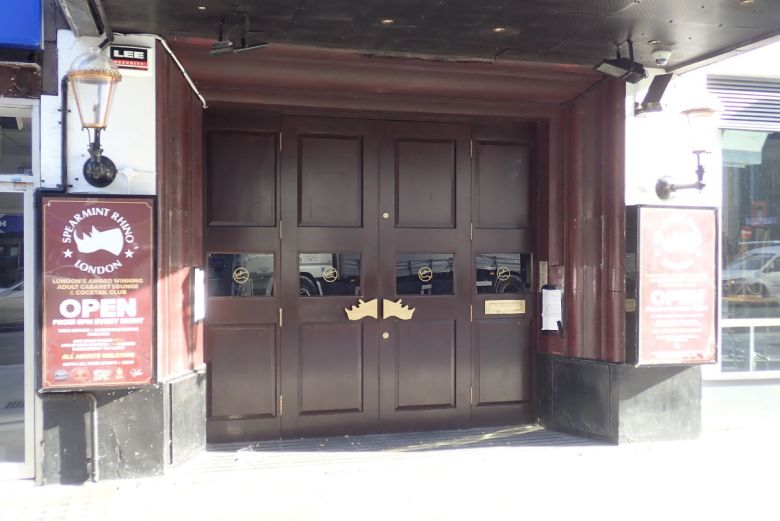 Entrance to sexual entertainment venue.