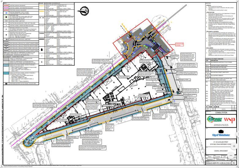 Map of  87-125 Cleveland Street development.