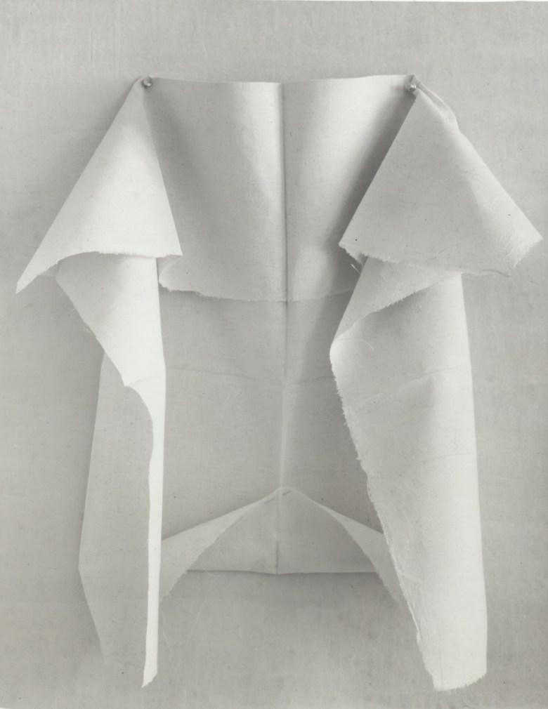Folded fabric.